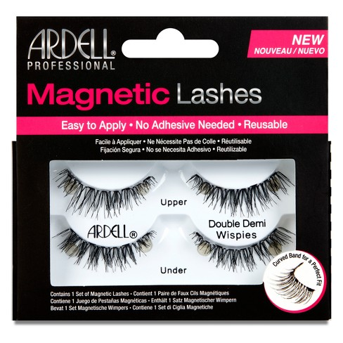 7751ae38b41 Ardell Double Demi Wispies Magnetic Eyelashes Black - 1pr : Target