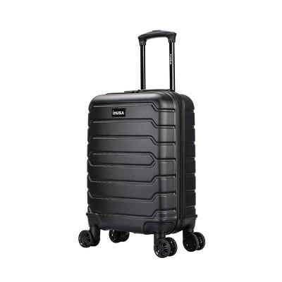 "InUSA Trend 20"" Lightweight Hardside Carry On Spinner Suitcase - Black"
