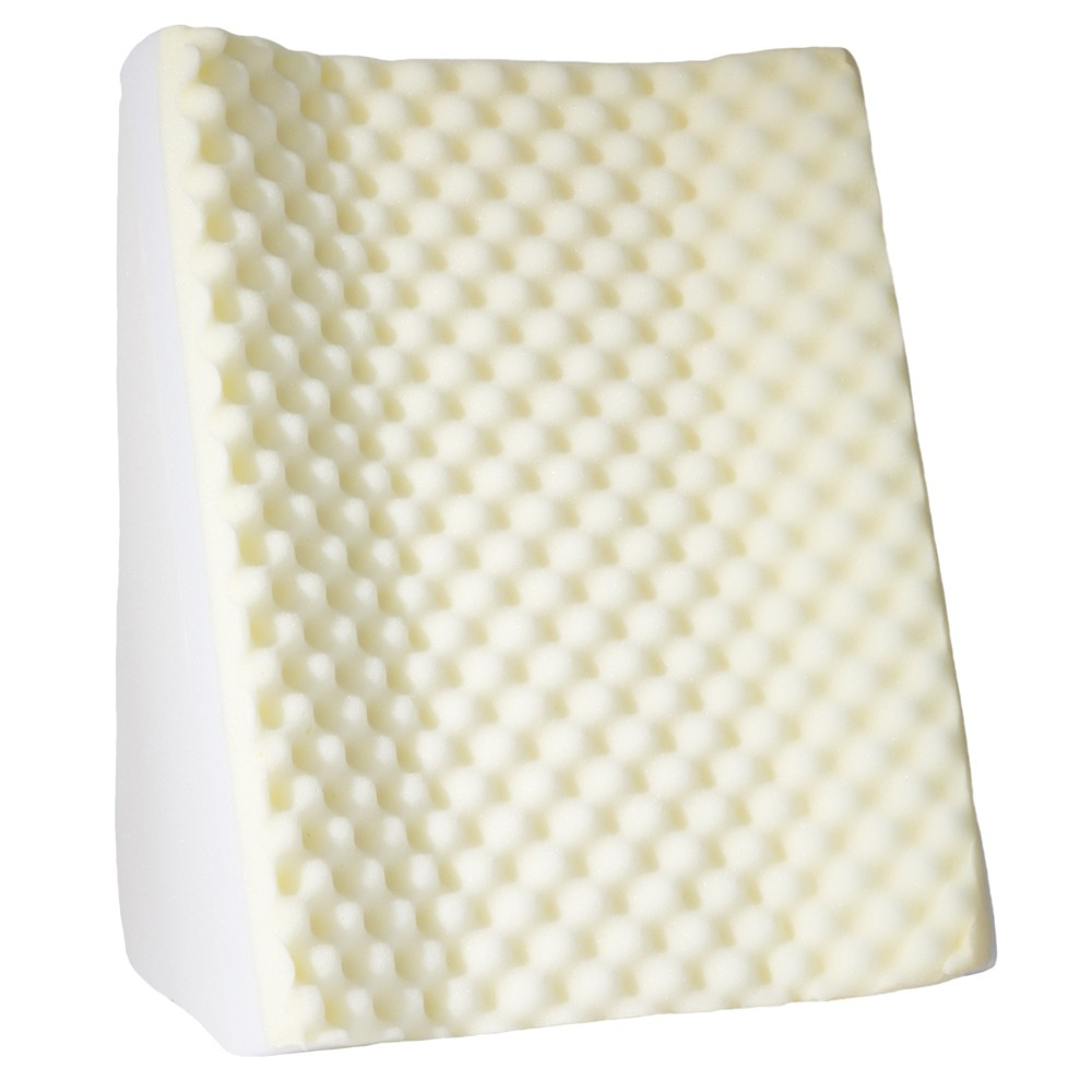 Image of Dual Position Wedge With White Terry Cloth Zippered Cover - Bluestone