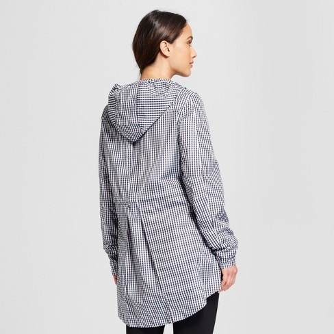 a92a10be77c40 Women's Gingham Anorak Jacket - A New Day™ Black : Target