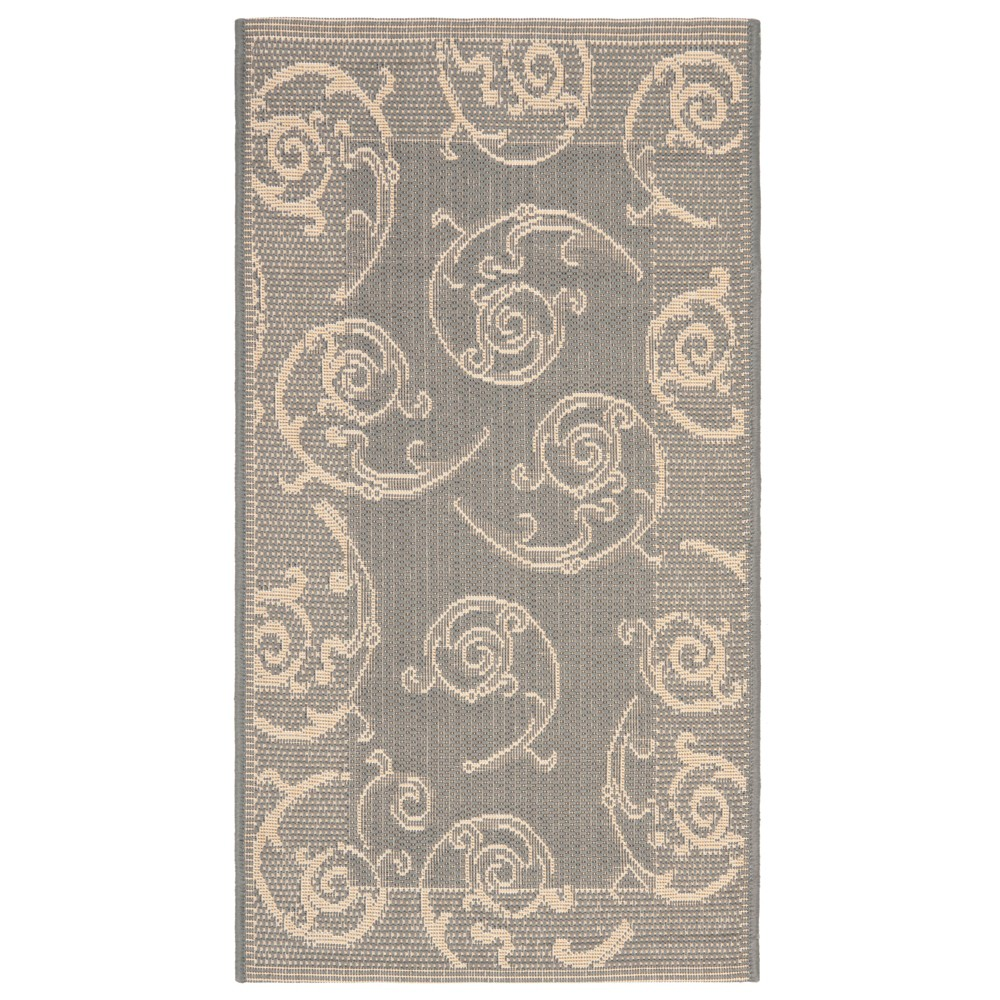 Pembrokeshire Rectangle 2' X 3'7 Outdoor Patio Rug - Gray / Natural - Safavieh, Gray/Natural
