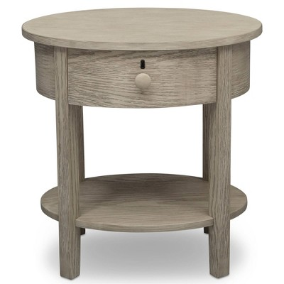 Delta Children Farmhouse Nightstand - Textured Limestone