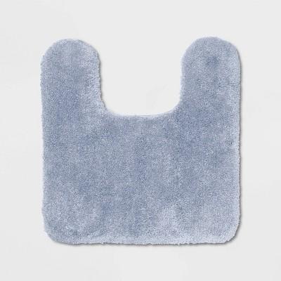 Performance Nylon Contour Bath Rug Light Blue - Threshold™