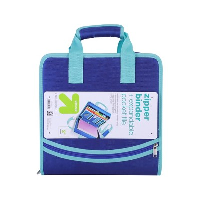 """2"""" Ring Zipper Binder with Strap - up & up™"""