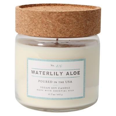 Glass Jar Candle Waterlily Aloe 12oz - Smith & Hawken™