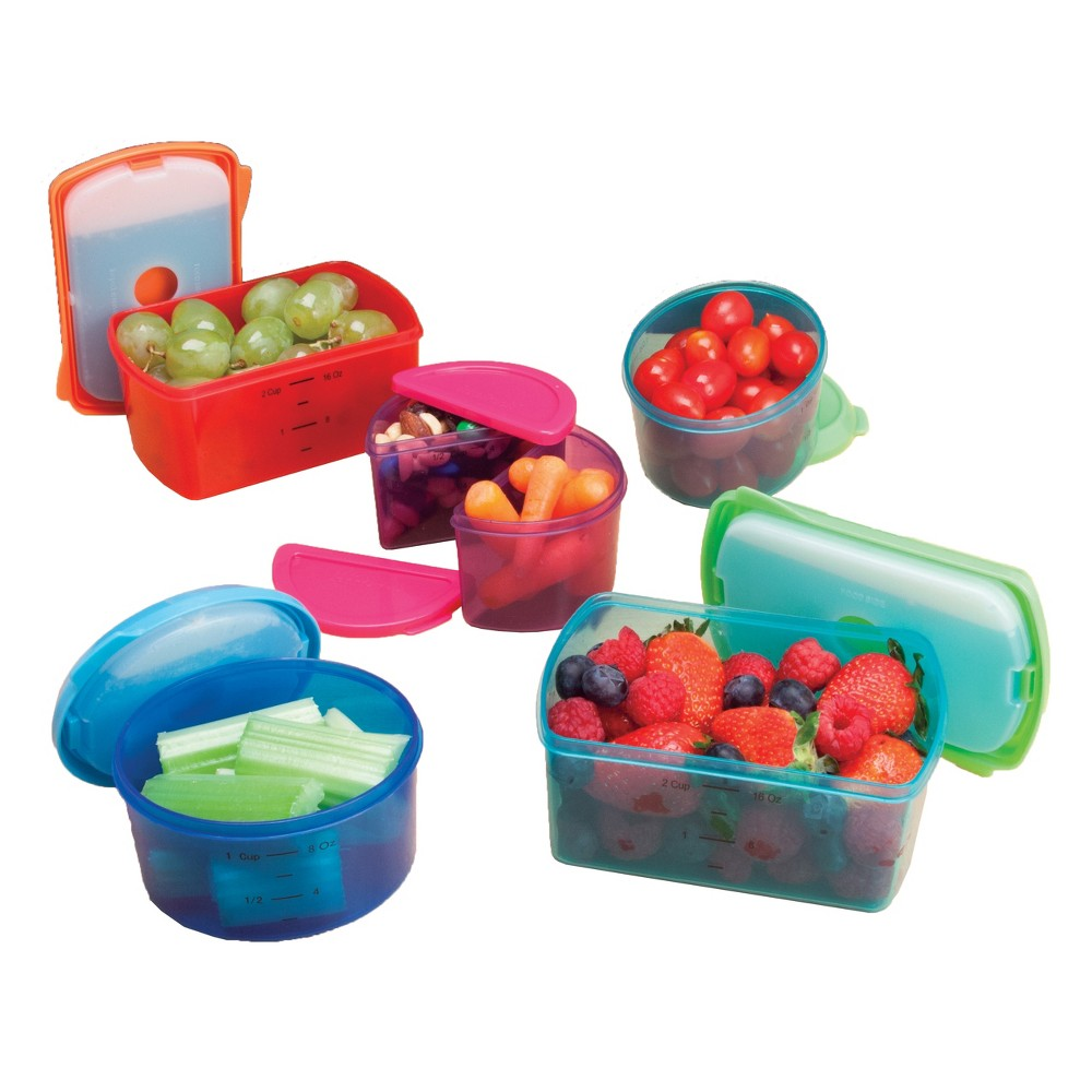 Fit & Fresh Healthy Lunch Set - 14pc, Multi-Colored