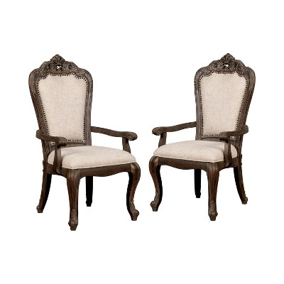 Set of 2 Dresmore Dining Chairs Antique Brush Gray - HOMES: Inside + Out