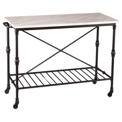 Morley Kitchen Island - Matte Black - Aiden Lane