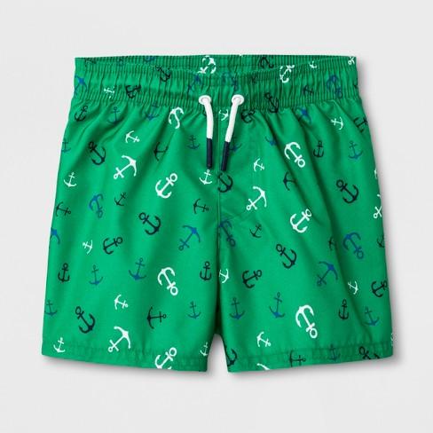 38ba81c993 Baby Boys' Anchor Swim Trunks - Cat & Jack™ Green : Target