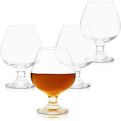 Juvale 4-Piece Clear Brandy Snifter Cognac Cocktail Whiskey Wine Glasses Set 16 Oz