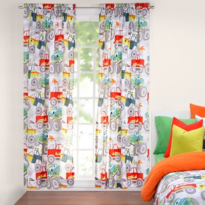 "50""x84"" Four Wheeling Single Rod Pocket Curtain Panel Orange - Crayola"