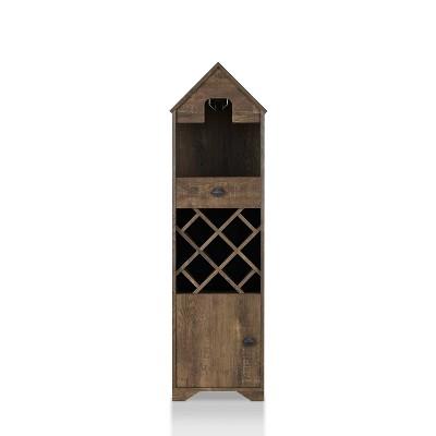 Nellda Wine Rack Reclaimed Oak - miBasics
