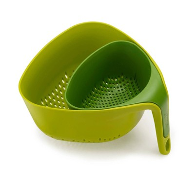Joseph Joseph Nest 2pc Colanders Green