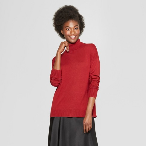 34ebe182b7c Women s Turtleneck Sweater - A New Day™ Dark Red XS   Target