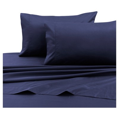 Cotton Sateen Deep Pocket Sheet Set (Queen) Navy Blue 750 Thread Count - Tribeca Living