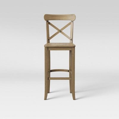 "30"" Litchfield X-Back Barstool Driftwood Brown - Threshold™"