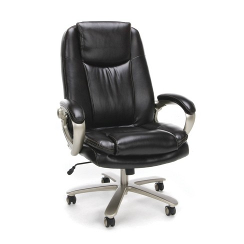 Essentials Collection Big and Tall Executive Office Chair with Arms Brown - OFM - image 1 of 4