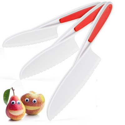 Zulay Kitchen Kids Knife Set for Cooking and Cutting Fruits, Veggies, Sandwiches & Cake