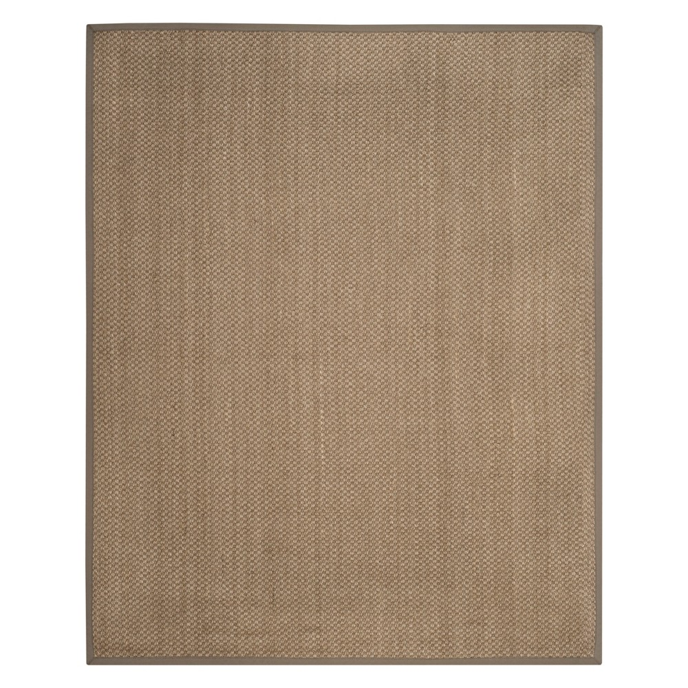 8'X10' Solid Loomed Area Rug Natural/Gray - Safavieh, White