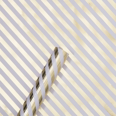 Gold Foil Diagonal Striped Gift Wrapping Paper - Spritz™