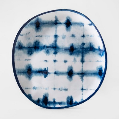 Melamine Shibori Dinner Plate 10.5  Blue - Threshold™