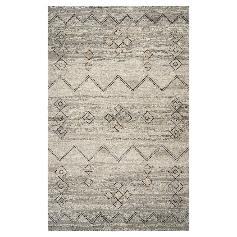 Moroccan Rug - Gray - (5'X8') - Rizzy Home