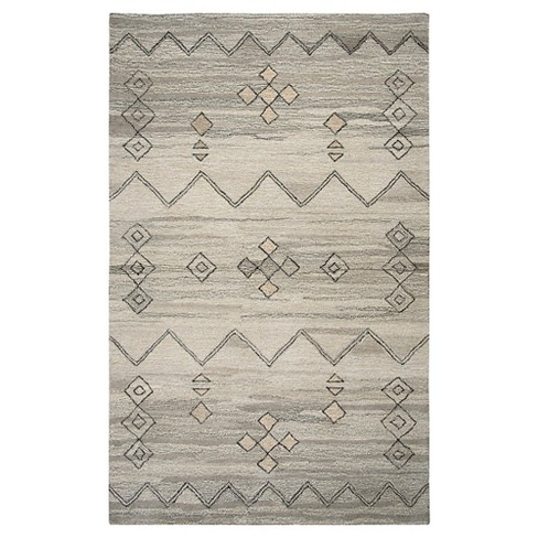Suffolk Tribal Rug Gray Rizzy Home