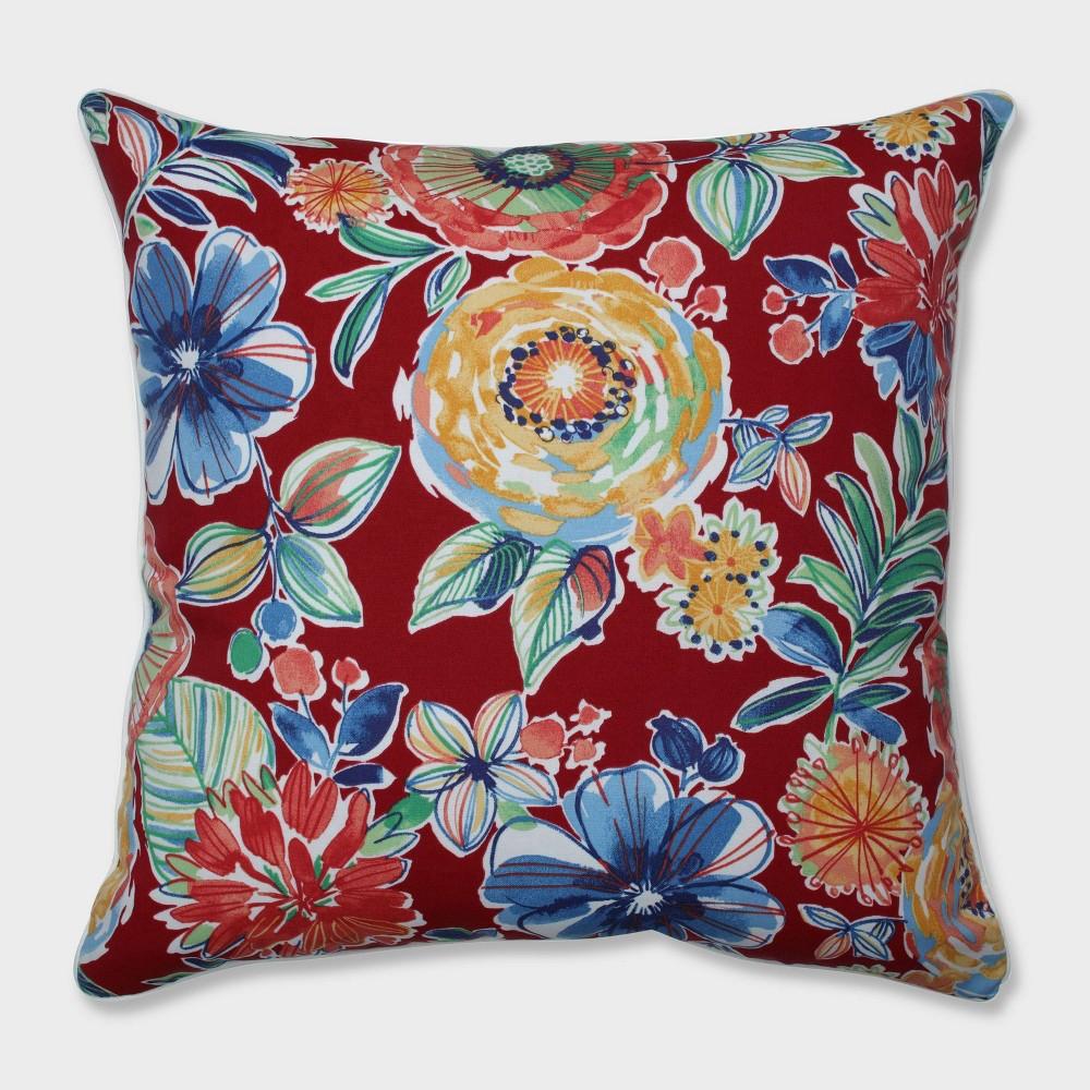 25 Colsen Berry Floor Pillow Red - Pillow Perfect