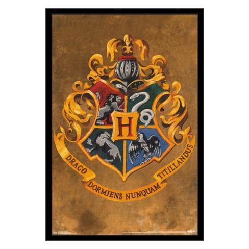 Harry Potter - Hogwarts Crest Framed Poster Trends International - image 1 of 4