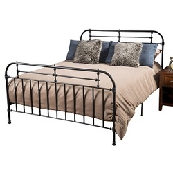 Cromwell Bed Metal King Charcoal - Christopher Knight Home