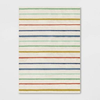 5'x7' Multi Stripe Rug Cream - Pillowfort™