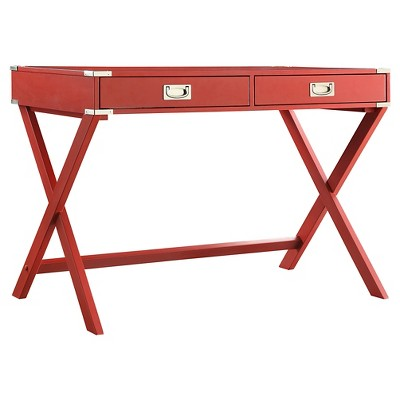 Kenton Wood Writing Desk with Drawers - Inspire Q