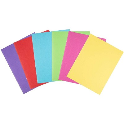"""Blank Book - 24-Pack Colorful Notebooks, Unlined Plain Travel Journals for Students Kids Diaries Creative Writing Projects, 6 Assorted Colors, 8.5x11"""""""