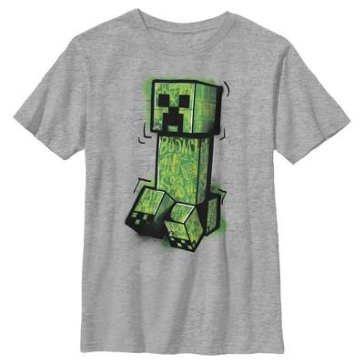 Boy's Minecraft Graffiti Creeper T-Shirt