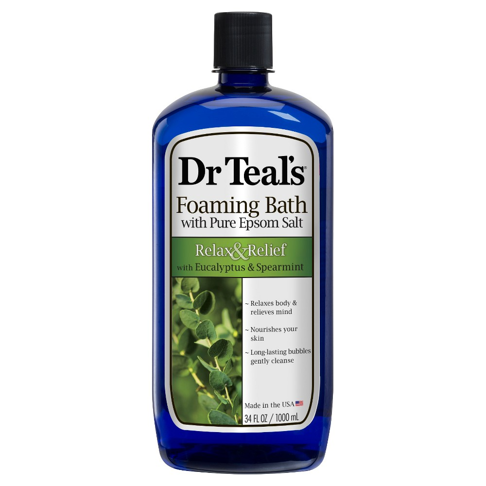 Image of Dr Teal's Eucalyptus & Spearmint Epsom Bath Foam - 34 fl oz