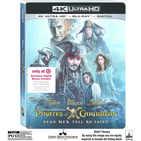 Pirates Of The Caribbean: Dead Men Tell No Tales Target Exclusive (4K/UHD + Blu-ray + Digital) - image 1 of 1