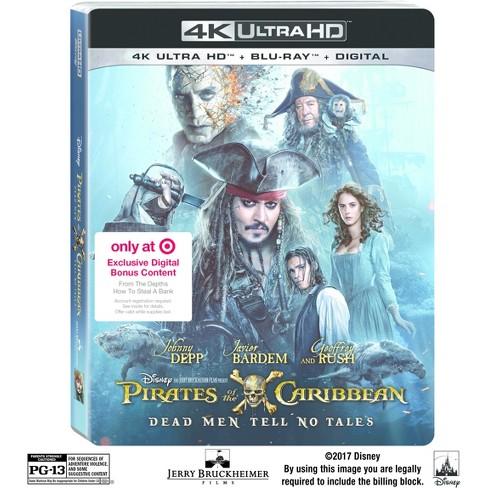 5d1d4e9e0d189 4K/UHD Pirates Of The Caribbean: Dead Men Tell No Tales Target Exclusive  (4K/UHD + Blu-ray + Digital)