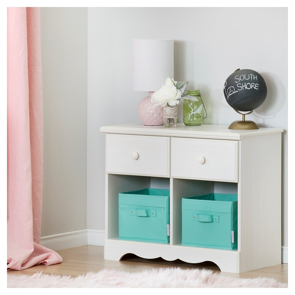 Summer Breeze 2 Drawer Double Nightstand White Wash South