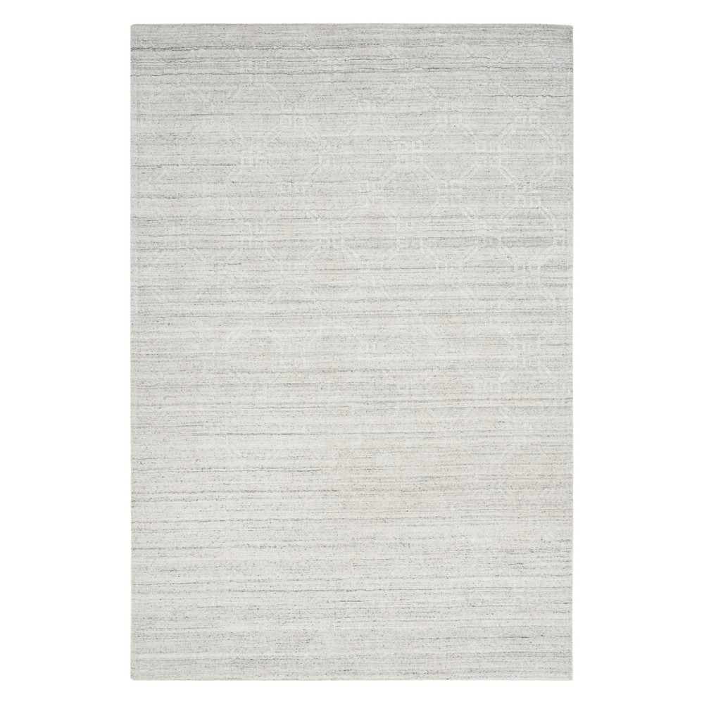 6'X9' Geometric Knotted Area Rug Light Gray - Safavieh
