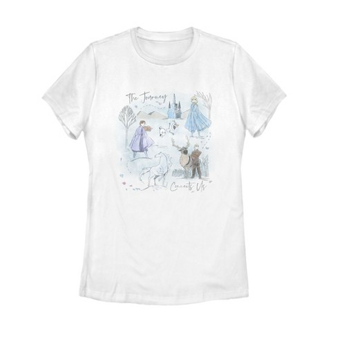 Women's Frozen 2 Journey Watercolor T-Shirt - image 1 of 3
