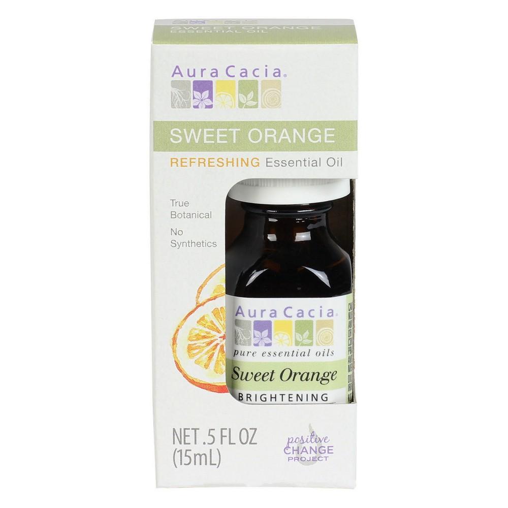 Image of Aura Cacia Sweet Orange Brightening Essential Oil - 0.5 fl oz