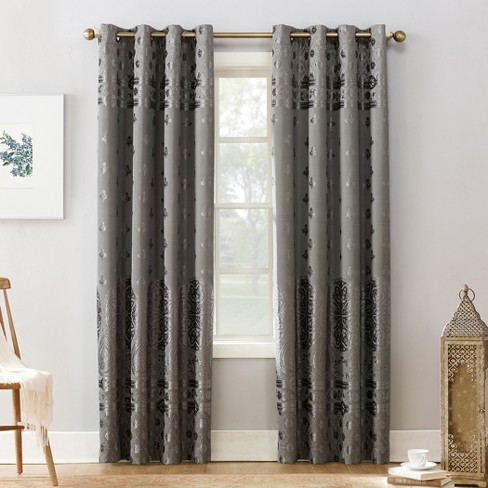 Sun Zero Elidah Bonded Velvet Blackout Grommet Curtain Panel - image 1 of 4