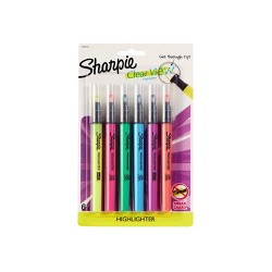 Sharpie Clear View 6pk Highlighter Multicolor
