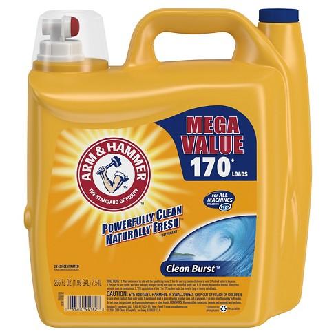 Arm & Hammer Clean Burst Liquid Laundry Detergent - 255 fl oz - image 1 of 4