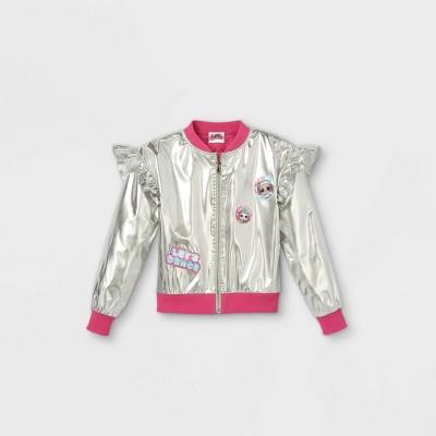 Girls' L.O.L. Surprise! Bomber Jacket - Silver