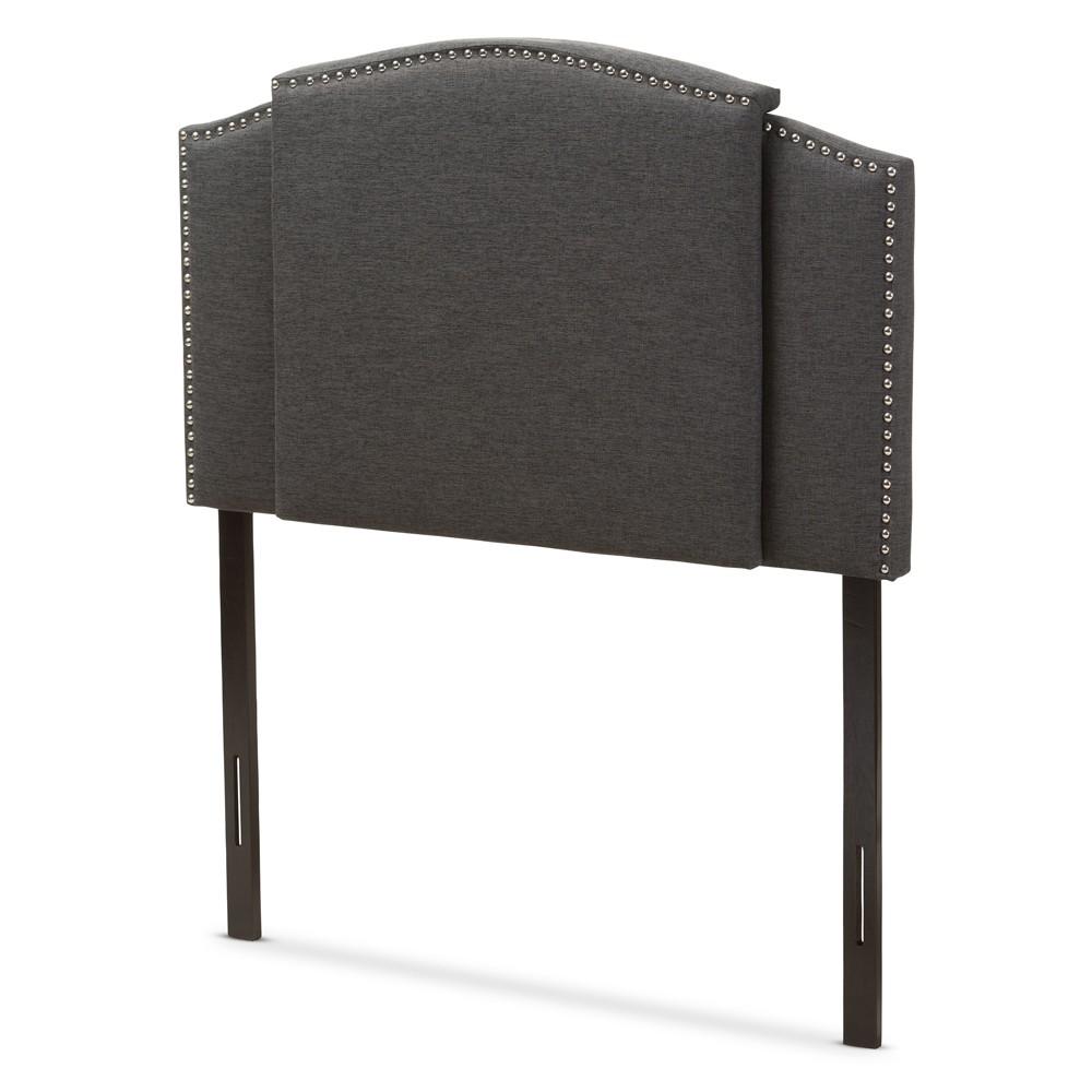 Allenna Modern and Contemporary Fabric Expandable Headboard Twin Dark Gray - Baxton Studio