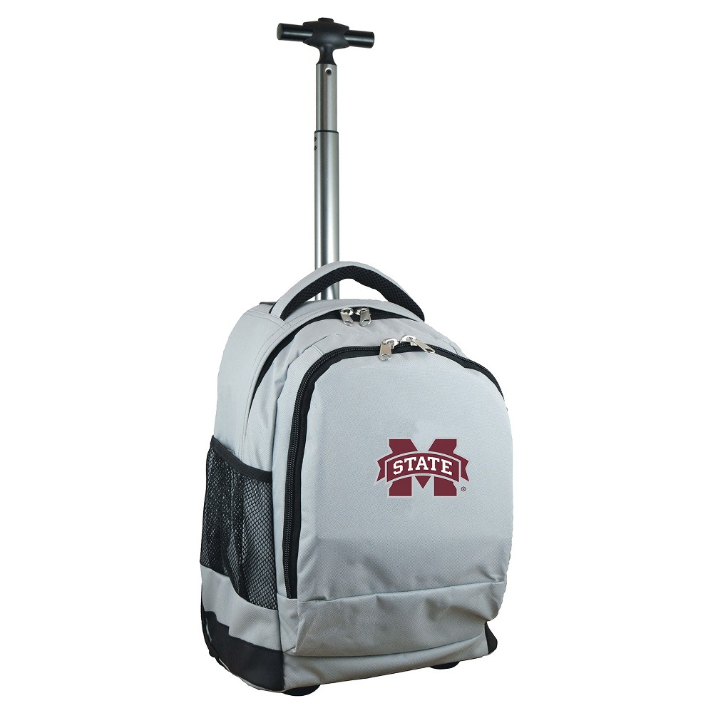 NCAA Mississippi State Bulldogs Gray Premium Wheeled Backpack