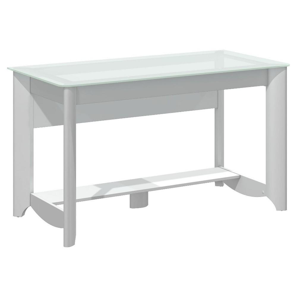 Image of Aero Writing Desk - White - Bush Furniture