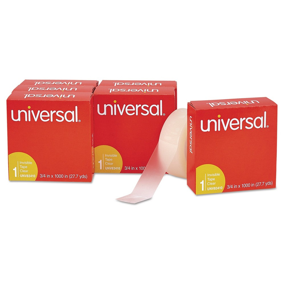 Universal Invisible Tape, 1, 6 ct, Clear