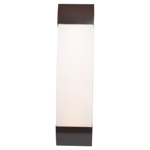 "West End 27""W LED Vanity Light - Bronze - Opal Glass Shade - image 1 of 3"